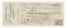 Mandat Commerce De Bois (500 Frs)  - Fontainebleau - 1912 - Taches De Rouille Et Trous - France