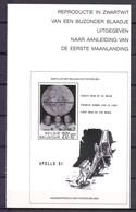 ZNP 21 MAANLANDING  ZWART  WIT VELLETJE 1989 - Foglietti Bianchi & Neri