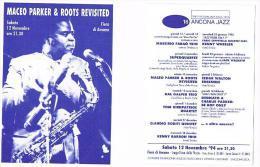 ITALIA  (ITALY)  - 1994  16^ ANCONA JAZZ : MACEO PARKER & ROOTS REVISITED (FIERA DI ANCONA)         - RIF. 3672 - Musica E Musicisti