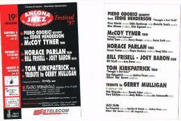 ITALIA  (ITALY)  - 1997  19^ ANCONA JAZZ          - RIF. 3673 - Musique Et Musiciens