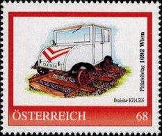 Philatelietag 1092 Wien, Draisine K714.516, Pers.BM, Bogennummer 8119997** - Österreich