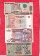 Autres-Afrique 8 Billets  1 En UNC 3 Dans L 'état 3 état Moyen Et 1 Usagé   Lot N °9 - Billets