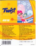 CZECH REPUBLIC - Christmas 2001, Twist Prepaid Card 400 Kc, Exp.date 10/06, Used - Tchéquie