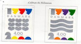 PIA - DANIMARCA -1999 : Passaggio Dal Vecchio Al Nuovo Millennio  - (Yv 1234-35 ) - Danimarca