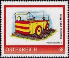 Philatelietag 1080 Wien, Draisine Daimler D II, Pers.BM, Bogennummer 8119375** - Österreich