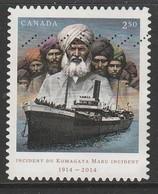 Canada 2014 The 100th Anniversary Of Komagata Maru 2.50 ($)  Multicoloured SW 2894 O Used - 1952-.... Reign Of Elizabeth II