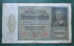· Billet, Allemagne, 10.000 Mark  -  Ft: 21 X 12,5 Cm - 1922, - [ 3] 1918-1933 : République De Weimar