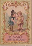 Calendrier 1884 Mercerie Doré à Chartres ,belle Illustration Enfants (tortue,baignade,chant..) - Calendars