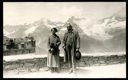 Foto, Gornergrat, 7.7.1924, Mann Frau Bei Kulm-Hotel - VS Valais