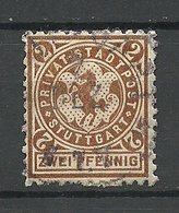 Deutschland 1897 STUTTGART Privater Stadtpost Local City Post Private Post Horse O - Private