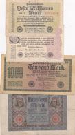Lot Reichsbanknote 11920/ 23 - [ 3] 1918-1933 : République De Weimar