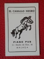 SPAIN CALENDARIO DE BOLSILLO OLD 1981 CALENDAR ESPAÑA ESPAGNE EL CABALLO NEGRO BLACK HORSE PIANO PUB MÁLAGA CHEVAL NOIR - Calendarios