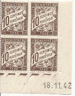 Coin Daté (1942) Taxe 10 Cts Marron (n°29) - Neuf - 1940-1949
