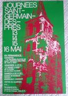 AFFICHE ANCIENNE ORIGINALE JOURNEES SAINT GERMAIN DES PRES 1960 - Affiches