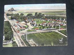 MONT SAINT MICHEL    1950   /   VUE  AERIENNE CAMPING   / CIRC /  EDITION - Le Mont Saint Michel