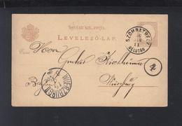 Hungary Stationery 1886 Szombathely Delutan To Bavaria - Hungary