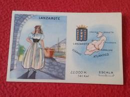 SPAIN ANTIGUO CROMO OLD COLLECTIBLE CARD LANZAROTE ISLAS CANARIAS CANARY ISLANDS CEREGUMIL FERNÁNDEZ REGIONES REGIONS VE - Documentos Antiguos