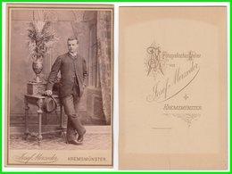 Photografie: Josef Merzeder, Kremsmüster - Portrait, Feiner Junger Mann Herr Homme Man Gentleman #13 KAB / Cdv - Oud (voor 1900)