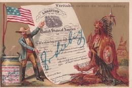 Vers 1895 Extrait De Viande Liebig Contrat De Lègue Des Indiens Au Etats Unis D'Amérique - Liebig