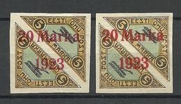 Estland Estonia Michel 44 B A + B * Signed - Estland