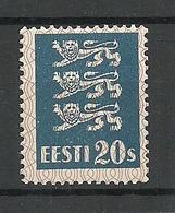 ESTLAND Estonia 1928 Michel 82 Dickes Papier Thick Paper Type MNH - Estland