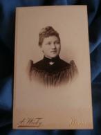 Photo CDV  Wicky à Berne Portrait Belle Jeune Femme Blonde  Yeux Clairs  CA 1895 - L427 - Anciennes (Av. 1900)