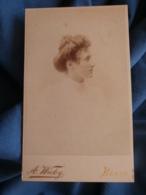 Photo CDV  Wicky à Berne Portrait (profil)  Belle Jeune Femme Blonde  CA 1895 - L427 - Anciennes (Av. 1900)