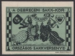CHESS SCHACH ÉCHECS Championships - 1913 Hungary Debrecen - MNH Label / Vignette / Cinderella - KNIGHT KNIGHTS - Schaken