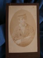 Photo CDV Ruf & Dilger à Fribourg  Portrait Ecolier Portant Une Casquette  CA 1885 - L427 - Anciennes (Av. 1900)