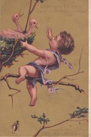 Vers 1895 Extrait De Viande Liebig : Usine à Fray-Bentos Uruguay (ange,bébé,nid Oiseaux) - Liebig