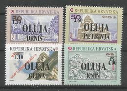 """HR 1995 OVERPRINT """"OLUJA"""" PRIVAT POLITICAL EMISSION, MNH - Croatie"""