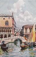 AR08 Venezia, Ponte Della Paglia E Sospiri - Artist Signed Postcard - Venezia (Venice)