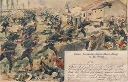 Litho. 1902 Gravelotte - Bataille De Saint-Privat - Kaiser Alexander-Garde-Grenadier-Regiment - Signiert Zimmer - Otras Guerras