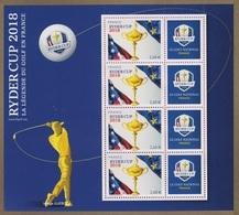 France BF N° 142 A ** Sport - Golf - Ryder Cup - Blocs & Feuillets