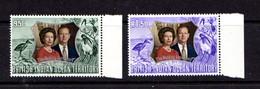 BRITISH  INDIAN  OCEAN  TERRITORY     1972    Royal  Silver  Wedding    Set  Of  2    MNH - British Indian Ocean Territory (BIOT)