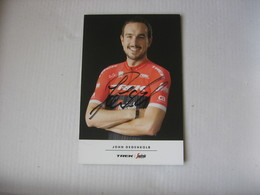 Cyclisme - Autographe - Carte Signée John Degenkolb - Cyclisme