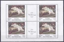 Tschechien Czechia 2002 Kunst Arts Kultur Culture Gemälde Paintings Vlaho Bukovac Diwan Divan Möbel Frauen, Mi. 318 ** - Tschechische Republik