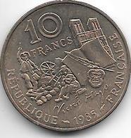 *france 10 Francs 1985   Km 956  Xf - France