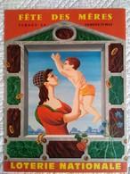 AFFICHE ANCIENNE ORIGINALE PUBLICITE TIRAGE DU LOTO FETE DES MERES 25 MAI 1963 Signée LESOURT LOTERIE NATIONALE - Affiches