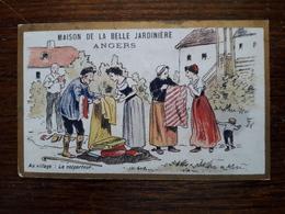 L16/18 Chromo. Maison De La Belle Jardiniere. Angers. Au Village. Le Colporteur - Other