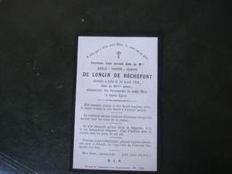 Image Pieuse Avis De Décès Adèle De Longin De Rochefort 1876 - Décès