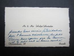 CARTE DE VISITE (M1611) M & Mv SCHULPE - SCHOUTEDEN (2 Vues) Thonissenlaan - HASSELT - Visiting Cards