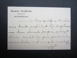 CARTE DE VISITE (M1611) ROBERT RUBENS (2 Vues) KAPELAAN - WATERSCHEI - Visiting Cards