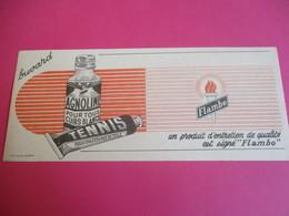 Buvard/Produit D'entretien Cuirs Blancs /chaussures De Toile/AGNOLINE ,TENNIS / Signé FLAMBO/ Vers 1940-1960    BUV325 - Waschen & Putzen