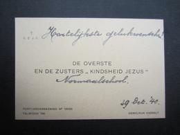 """CARTE DE VISITE (M1611) DE OVERSTE EN DE ZUSTERS """"KINDSHEID JEZUS"""" (2 Vues) HEMELRIJK HASSELT - Visiting Cards"""