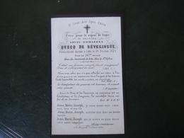 Image Pieuse Avis De Décès Louis Emmanuel Quecq De Sévelingue 1872 - Décès