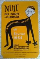 AFFICHE ANCIENNE ORIGINALE GALA ECOLE DES PONTS ET CHAUSSEES 1964 Illustrateur LEROY - Affiches