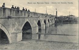 BULGARIA , TARJETA POSTAL SIN CIRCULAR , BRÜCKE BEI MUSTAFA PASCHA , PUENTES , BRIDGES - Bulgaria
