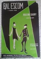 AFFICHE ANCIENNE ORIGINALE GALA ECOLE BAL DE L' ESCOM MAXIM SAURY LOUIS VEZANT 1964 Illustrateur G. Caille - Affiches