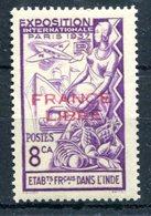 Inde - Surcharge France Libre En Rouge - Yvert 156 Neuf Avec TC - T 789 - India (1892-1954)